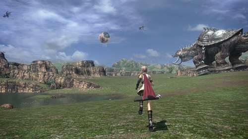 I Final Fantasy XIII ser du fiendene dine på spillebrettet.