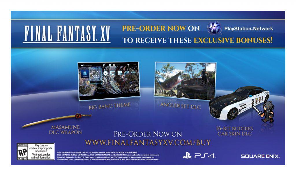 Final Fantasy XV kan forhåndsbestilles digitalt