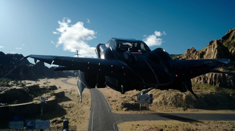 Bilen blir flyvende først mot slutten av Final Fantasy XV